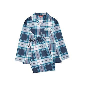 Minijammies Lewis 6613 Boy's Blue Check Pyjama Set