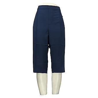 Isaac Mizrahi En direct! Pantalon pour femme Stretch Pedal Pushers Bleu A377472