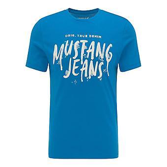 Mustang Shoes Aaron C Print 10095315320 universal all year men t-shirt