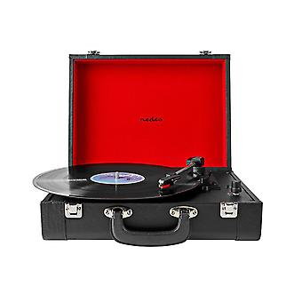 Portable Turntable with Built-in Speaker