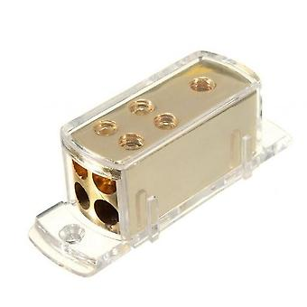 Car Audio Stereo Amp Power Ground Cable Splitter Distribution Block 4 Ways