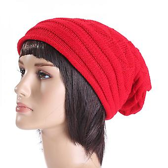 Unisex Knitted Baggy Beanie Warmer Hats Ski Slouchy Outdoor Caps