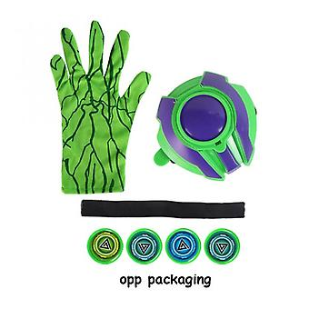 1pcs New Anime Figure Pvc Super Heroes Cosplay Spider Gloves Laucher Wrist Launchers Kids Toys For Children Boys Green