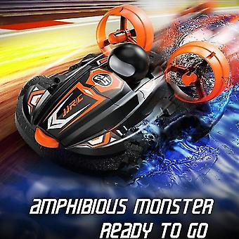 Remote control boats watercraft 2.4G 2 in 1 amphibious drift car remote control speed boat black