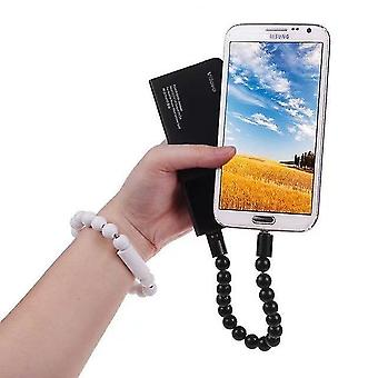 Gyöngy karkötő Micro USB töltőkábel (fekete)