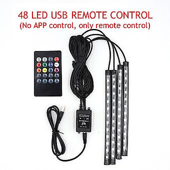 Usb Wireless Remote Music Control Automotive Interior Decorative Lights