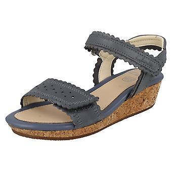 Spedbarn/Junior jenter Clarks kile hæl sommer sandaler Harpy myte