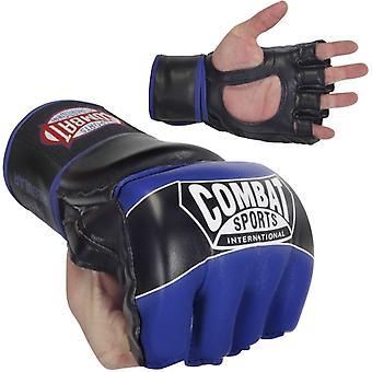 Bestrijding van Sport Pro stijl MMA handschoenen - blauw