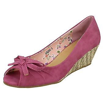 Sabana pequeña cuña zapatos de las señoras