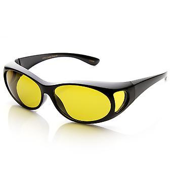 Gepolariseerde overlapping Cover past op volledige bescherming Anti-Glare zonnebril