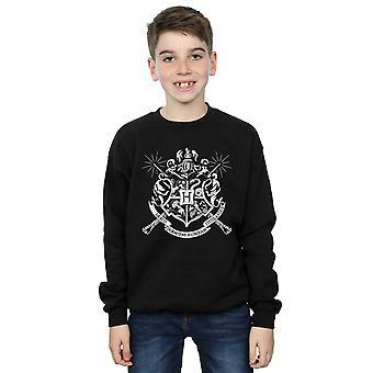 Harry Potter Boys Hogwarts Rozet Değnek Sweatshirt