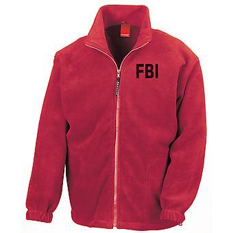 FBI Federal Bureau tutkimuksen teksti brodeerattu Logo - koko Zip Fleece