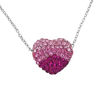 Heart - 925 Sterling Silver Jewelled Necklaces - W18843X