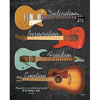 Mi impresión del cartel de guitarra por John Jones (16 x 20)