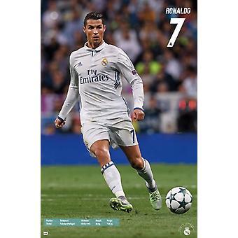 Real Madrid - Christian Ronaldo 16 affisch Skriv
