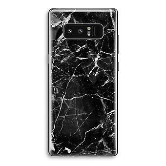 Samsung Galaxy Note 8 gjennomsiktig sak (myk) - svart marmor 2