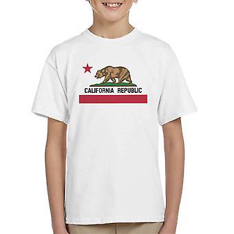 California Republic State Bear Flag Kid's T-Shirt