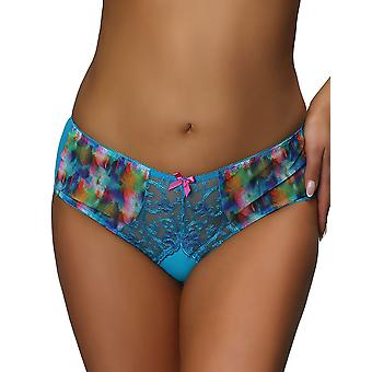 Nessa P1 Women's Valerie Blue Motif Knickers Panty Full Brief