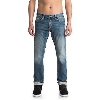 Quiksilver Revolver Straight Fit Jeans in Medium Blue