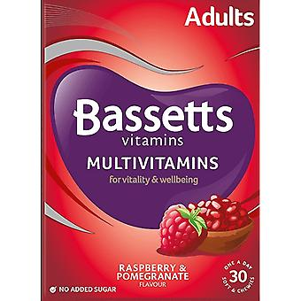 Bassetts Adults Chewable Multivitamins Raspberry & Pomegranate