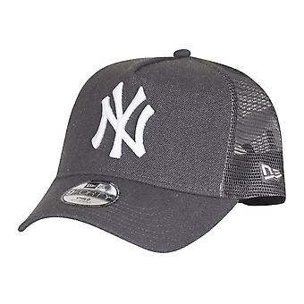 New Era Trucker Kinder Cap - HEATHER NY Yankees graphit