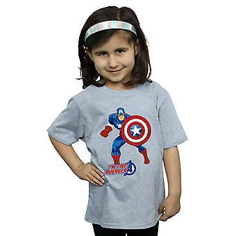 Marvel ragazze Capitan America il primo vendicatore t-shirt