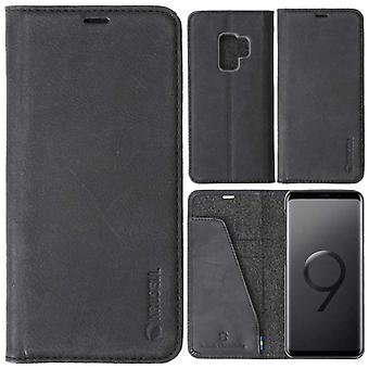 Krusell Sunne Leather Folio case for Samsung Galaxy S9 leather case protector case black