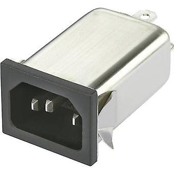 Yunpen YO06T1 Line filter + IEC socket 250 V AC 6 A 0.7 mH (L x W x H) 59.5 x 29 x 22 mm 1 pc(s)