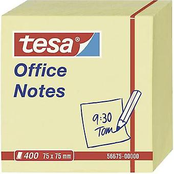Tesa® Office Notes 400 Sheets (Cube) Yellow 75 x 75 mm