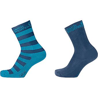 Jack Wolfskin Boys & Girls Kids Casual Organic Classic Socks 2 Pack
