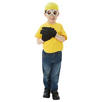 Minion Blister Kostüm Set 4-teilig für Kinder
