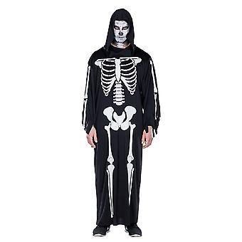 Skjelett kappe skjelett Cape skjelett kappe Halloween kostyme for menn