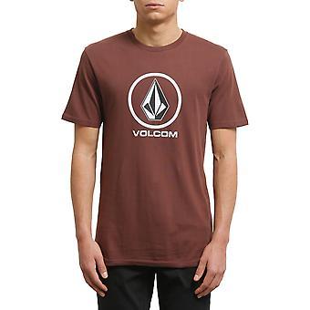 Volcom Crisp Stone Short Sleeve T-Shirt in Bordeaux Brown