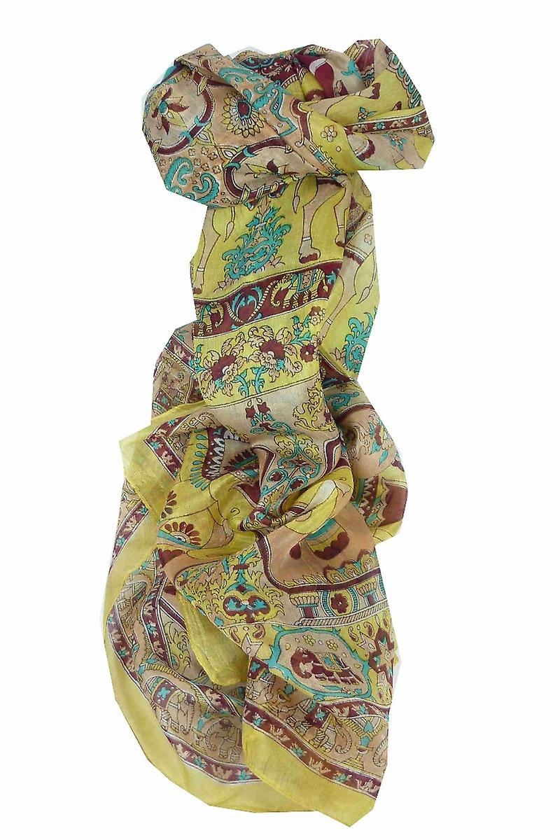 Mulberry Silk Traditional Long Scarf Kir Gold by Pashmina & Silk