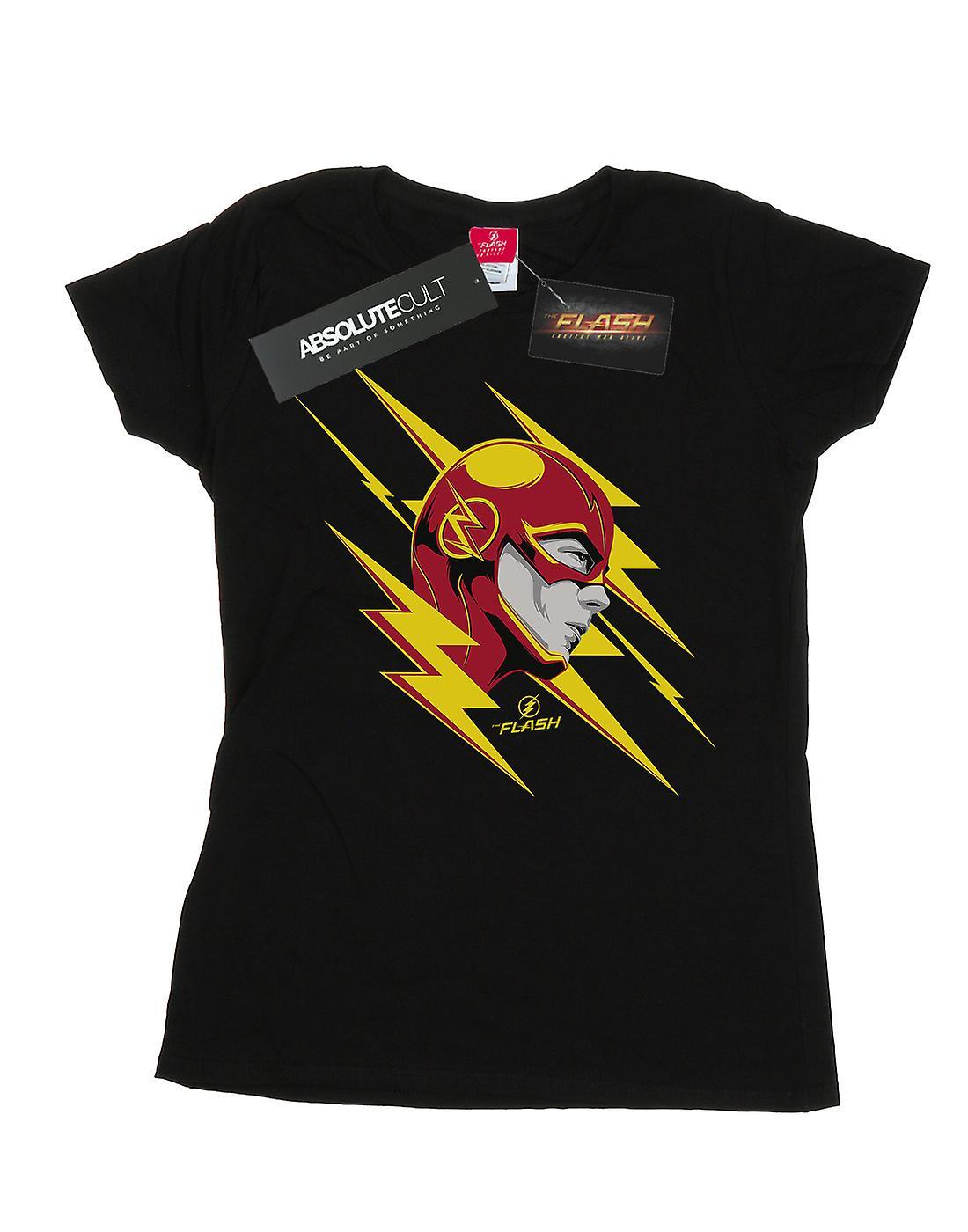 DC Comics Women's The Flash Lightning Portrait T-Shirt