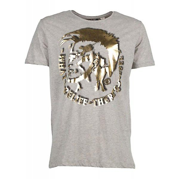 Diesel T-shirt T-Mohican Grey Gold
