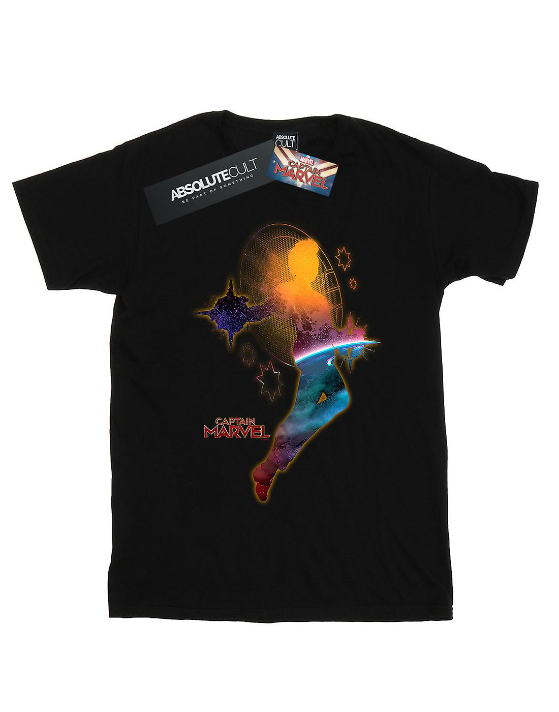 Marvel Women's Captain Marvel Nebula Flight Boyfriend Fit T-Shirt
