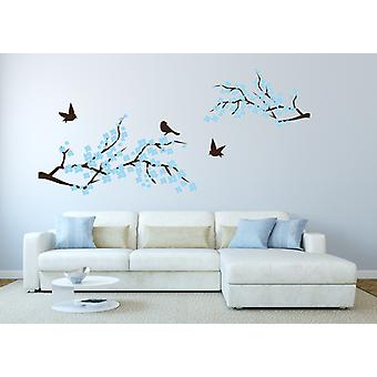 Cherry Blossom Wall Sticker With Birds
