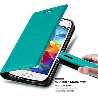Cadorabo Case for Samsung Galaxy S5 MINI / S5 MINI DUOS Case Cover - Phone Case with Magnetic Closure, Stand Function and Card Compartment – Case Cover Case Case Case Case Case Book Folding Style