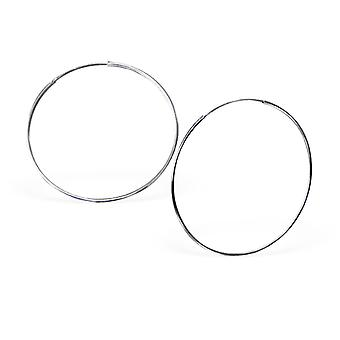 Endless - 925 Sterling Silver Ear Hoops - W12503x