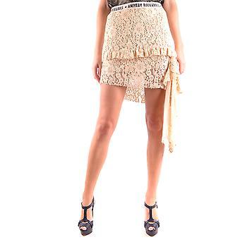 Aniye Door Ezbc098002 Women's White Cotton Skirt