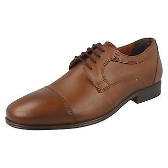 Mens Hush Puppies Lace Up Formal Shoes Bertrand Cap Toe