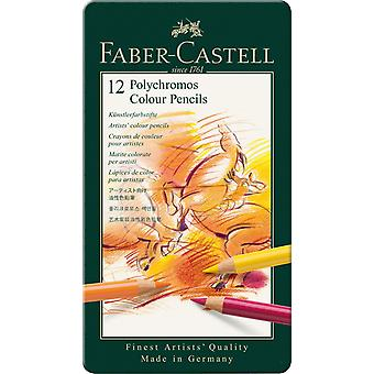 Faber-Castell Polychromos farve blyant 12 Tin
