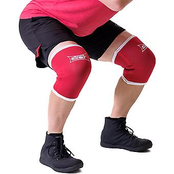 Sling Shot Knee Sleeves 2.0 by Mark Bell - Red, 7mm thick neoprene compression