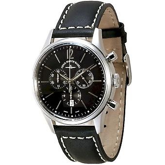 Zeno-watch reloj de evento Caballero Cronógrafo 43 negro Q 6564-5030Q-i1