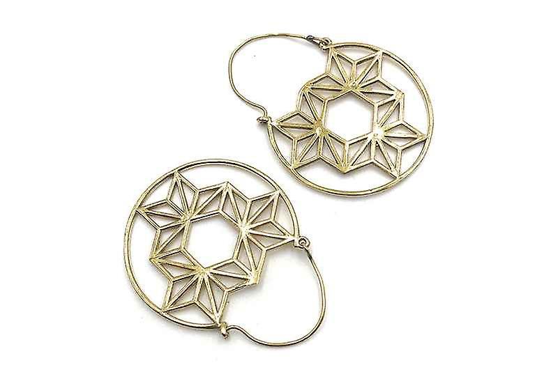 Avery and May Handmade DNA Filigree Hoop Earrings for Women