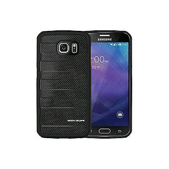 Body käsine nousu kotelo Samsung Galaxy S6-musta hiili kuitu