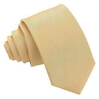 Ouro planície Shantung Slim tie