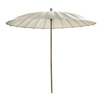 Beach7 | Shanghai parasol rond Spunacrylic doek |  Houtkleur/Naturel | parasols