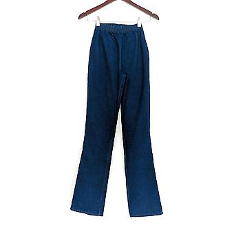 Denim & Co. Leggings T2XS Stretch Tall Boot Cut Dark Indigo Blue A01725